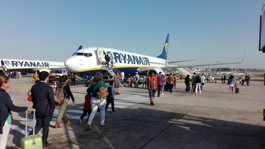 リスボン空港 ライアンエアー