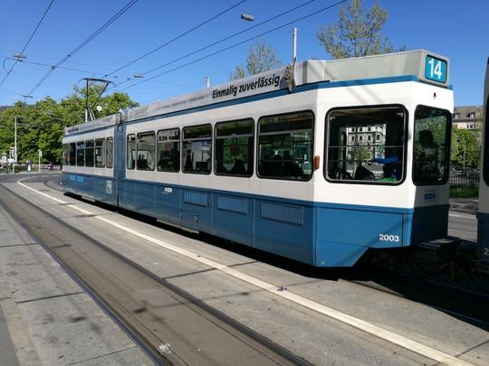 Zurich tram チューリッヒ トラム