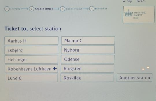 デンマーク鉄道DSB チケット 購入