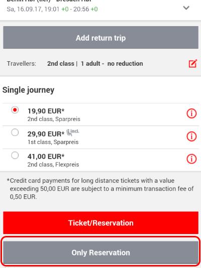 ドイツ鉄道DB チケット予約 オンライン