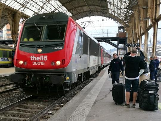 ミラノ ニース ジェノバ パリ 鉄道 Thello