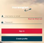 ノルウェー航空 オンラインチェックイン