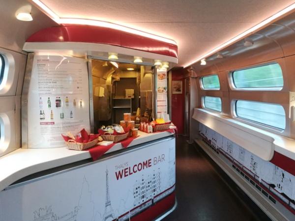 タリス thalys バー 食堂車