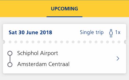 オランダ鉄道 NS 切符 スマホ アプリ