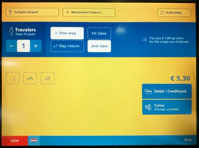 オランダ 鉄道 NS チケット 国鉄 切符