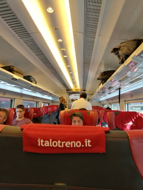 ヴェネツィア フィレンツェ 鉄道 イタロ フレッチャロッサ