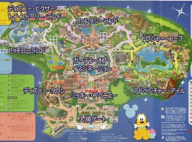 上海ディズニーランド 地図 マップ