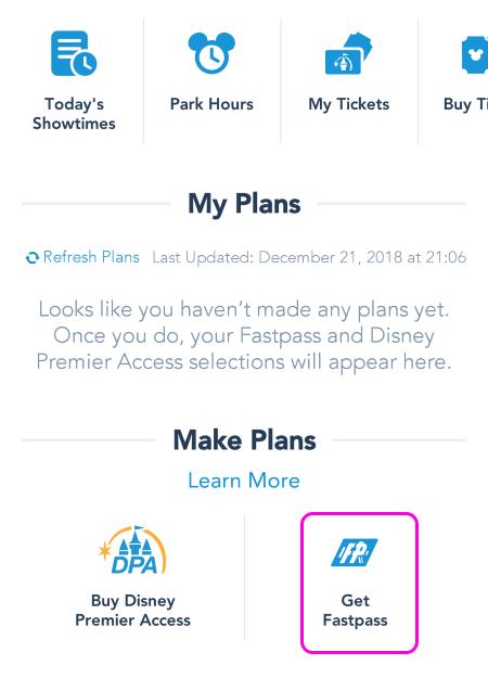 上海ディズニーランド 公式アプリ ファストパス